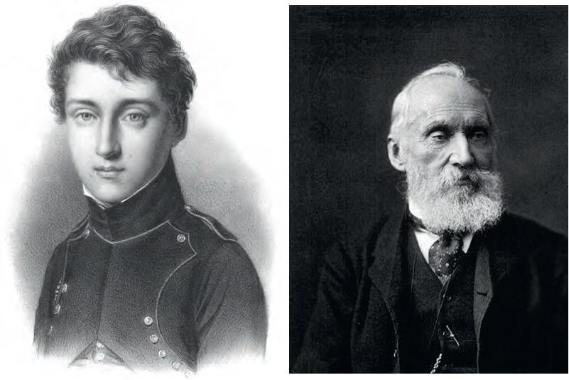 Sadi Carnot à gauche, Lord Kelvin à droite, les pères de la Thermodynamique.