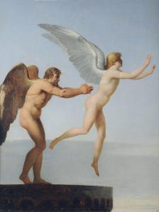 Dédale et Icare, par Charles Paul Landon (1799). Dédale incarne la technique qui permettrait d'atteindre à la maîtrise du monde. En Dédale se profile une science sans conscience...