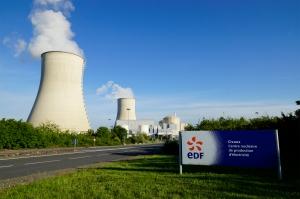 Entrée de la centrale nucléaire de Civaux (France).