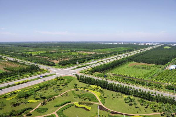 Axes de circulation de la zone économique de recyclage de Ziya.