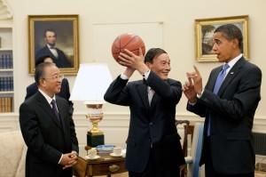 Rencontre au sommet des deux plus grandes puissances mondiales, la Chine et les États-Unis, pays dont l'évolution des émissions de CO2 pour les prochaines années sera déterminante pour l'évolution du climat. (photo 2009)