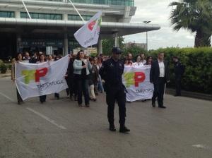 Manifestation au Portugal des salariés de TAP