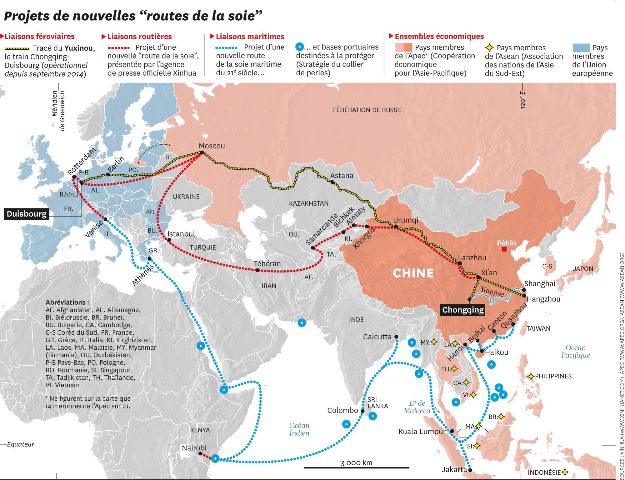 Les « nouvelles routes de la soie » constituent un des piliers de la  nouvelle politique économique chinoise. Il s agit d une initiative  pragmatique qui ... 1a562b7eefc